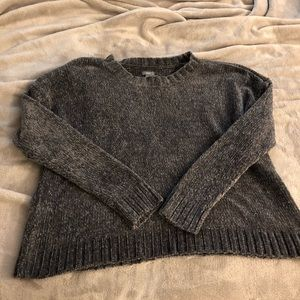 Aerie gray chenille cropped sweater